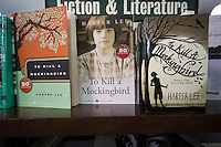 """Paperback copies of """"To Kill a Mockingbird"""" by Harper Lee are seen on a bookstore shelf in New York on Wednesday, February 4, 2015. The famed Pulitzer Prize winning author will release her second novel, """"Go Set A Watchman"""", a sequel to Mockingbird published 50 years ago. Watchman was actually written prior to Mockingbird and was recently found after being thought lost. The book will be released July 14. (© Richard B. Levine)"""