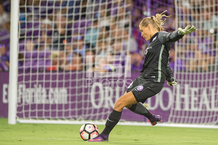 Orlando, FL - Saturday July 15, 2017: Aubrey Bledsoe during a regular season National Women's Soccer League (NWSL) match between the Orlando Pride and FC Kansas City at Orlando City Stadium.