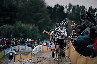 CX world champion Wout Van Aert (BEL/Crelan-Charles)<br /> <br /> Men's Elite race<br /> <br /> UCI cyclocross World Cup Koksijde / Belgium 2017