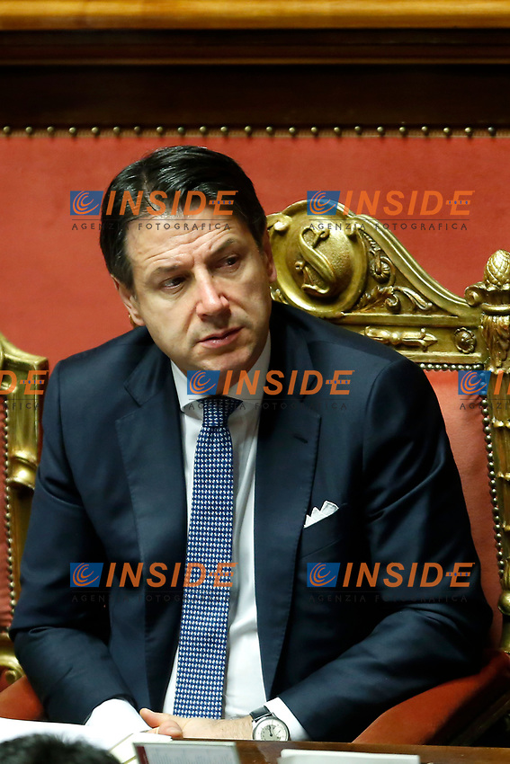 Giuseppe Conte <br /> Rome September 10th 2019. Senate. Discussion and Trust vote at the new Government. <br /> Foto  Samantha Zucchi Insidefoto