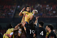 SÃO PAULO,SP, 10.11.2018 - BRASIL-ALL BLACK MAORI – Michael do Brasil durante partida contra o All Black Maori, jogo amistoso internacional de Rugby, disputada no estádio do Morumbi em São Paulo, neste sabado, 10. (Foto: Levi Bianco/Brazil Photo Press/Folhapress)