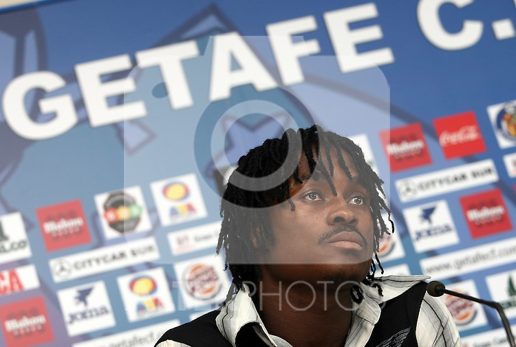 Getafe's new player Derek Boateng during his presentation. August 6 2009. (ALTERPHOTOS/Acero).