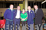 Awards night for Listowel Celtic Soccer Schoolboys/girls were held in St. Michaels College Listowel on Thursday night..John Hicky, Ray Houghton, Rebecca Horgan, Liam Kennedy, Aidan O'Connor