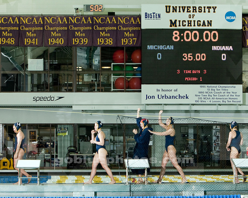 4/24/2010 Michigan women's water polo defeats Indiana to win the CWPA Western Division Tournament at Canham Natatorium.