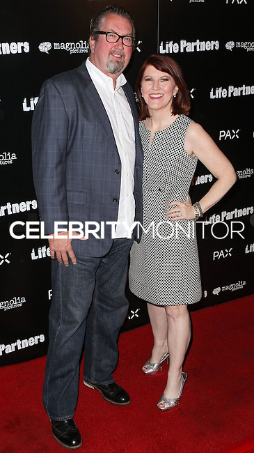 HOLLYWOOD, LOS ANGELES, CA, USA - NOVEMBER 18: Kate Flannery, Chris Haston arrive at the Los Angeles Special Screening Of Magnolia Pictures' 'Life Partners' held at Arclight Hollywood on November 18, 2014 in Hollywood, Los Angeles, California, United States. (Photo by Rudy Torres/Celebrity Monitor)