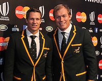 Jean de Villiers with Schalk Burger of South Africa at the World Rugby Awards 2015  - 01/11/2015 - Battersea Evolution, London<br /> Mandatory Credit: Rob Munro/Stewart Communications