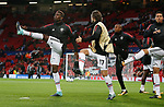 Paul Pogba of Manchester United (L) warms up before the Champions League Group A match at the Old Trafford Stadium, Manchester. Picture date: September 12th 2017. Picture credit should read: Andrew Yates/Sportimage