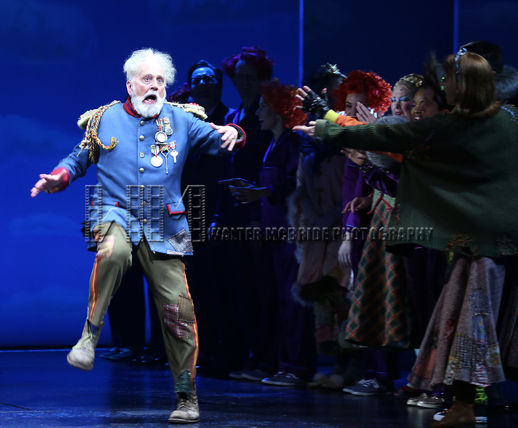 John Rubinstein and cast during the Broadway Opening Performance Curtain Call of 'Charlie and the Chocolate Factory' at the Lunt-Fontanne Theatre on April 23, 2017 in New York City.
