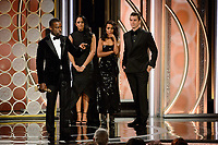 Sterling K. Brown accepts the Golden Globe Award for BEST PERFORMANCE BY AN ACTOR IN A TELEVISION SERIES &ndash; DRAMA for his role in &quot;This Is Us&quot; at the 75th Annual Golden Globe Awards at the Beverly Hilton in Beverly Hills, CA on Sunday, January 7, 2018.<br /> *Editorial Use Only*<br /> CAP/PLF/HFPA<br /> &copy;HFPA/PLF/Capital Pictures