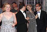 Kathleen Marshall, David Eggers (Gypsy Recepient - CURTAINS), Kelli o'Hara, Eric Sciotto (Gypsy Recepient - PAL JOEY).during the Broadway Opening Night Gypsy Robe Ceremony honoring Cameron Adams in 'Nice Work If You Can Get It' at the ImperialTheatre on 4/24/2012 in New York City.