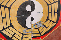 """Yang Yin. Door ajar. Chaozhou. (Guangdong Province, CH.) Continental Drift. <br /> Color Pencil on paper.26"""" x 40"""". <br /> Judy Byron. 2014<br /> Photo credit: Rick Reinhard"""
