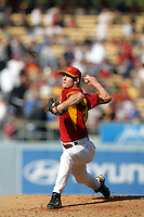 February 28 2010: Kevin Couture of USC during game against UCLA at Dodger Stadium in Los Angeles,CA.  Photo by Larry Goren/Four Seam Images