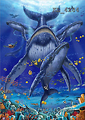 Interlitho, Lorenzo, REALISTIC ANIMALS, paintings, whales(KL4284,#A#) realistische Tiere, realista, illustrations, pinturas ,puzzles
