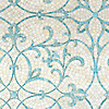 Marabel, a hand-cut jewel glass mosaic shown, in Aquamarine and Quartz jewel glass, is part of the Silk Road® collection by New Ravenna.