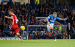 Martyn Waghorn scores his first and Rangers third goal