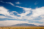 Landscape and clouds, Warm Springs, Nevada.