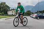 09.07.2019, Parkstadion, Zell am Ziller, AUT, TL Werder Bremen Zell am Ziller / Zillertal Tag 05<br /> <br /> im Bild<br /> Yuya Osako (Werder Bremen #08) auf Mountainbike nach Trainingsende, <br /> <br /> Foto © nordphoto / Ewert