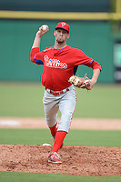 Philadelphia Phillies pitcher Calvin Rayburn (47) during an Instructional League game against the New York Yankees on September 23, 2014 at the Bright House Field in Clearwater, Florida.  (Mike Janes/Four Seam Images)