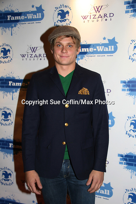 As The World Turns - Billy Magnussen at the Fame-Wall World Premiere Launch Party and Inaugural Portrait Unveiling Honoring John Stamos currently starring in Broadway's Bye, Bye Birdie on September 10, 2009 at Trattoria Dopo Teatro, NYC - now Home of New Fame-Wall, NYC. Fame-Wall salutes those who have inspired people and made a significant impact through the world of art and entertainment. (Photo by Sue Coflin/Max Photos)