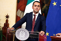 Luigi Di Maio<br /> Rome January 17th 2019. Press conference of  the Italian premier and of the two vice premiers just after the Minister cabinet approved the reform of job (citizenship income) and board.<br /> Foto Samantha Zucchi Insidefoto