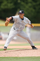 Relief pitcher Daniel Ray Herrera #52 of the Louisville Bats in action against the Charlotte Knights at Knights Stadium July 20, 2010, in Fort Mill, South Carolina.  Photo by Brian Westerholt / Four Seam Images