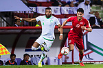 Ali Hadi Albulayhi of Saudi Arabia (L) battles for the ball with Pak Kwang Ryong of North Korea (R) during the AFC Asian Cup UAE 2019 Group C match between Saudi Arabia (KSA) and North Korea (PRK) at Rashid Stadium on 08 January 2019 in Dubai, United Arab Emirates. Photo by Marcio Rodrigo Machado / Power Sport Images
