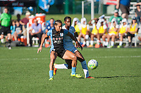 Kansas City, MO - Sunday September 11, 2016: Sarah Gorden, Tiffany McCarty during a regular season National Women's Soccer League (NWSL) match between FC Kansas City and the Chicago Red Stars at Swope Soccer Village.