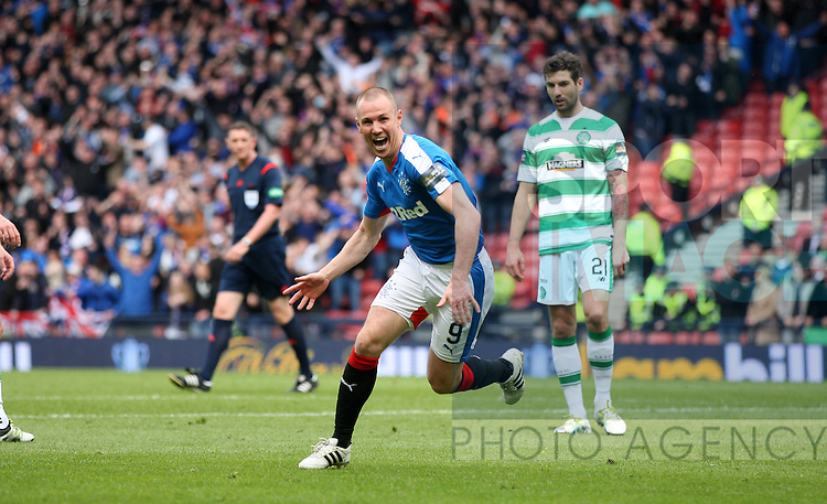 Rangers Kenny Miller scores the first goal during the William Hill Scottish Cup match at Hampden Park Stadium.  Photo credit should read: Lynne Cameron/Sportimage