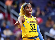 Washington, DC - June 15, 2018: Chicago Sky forward Cheyenne Parker (32) directs a teammate during free throw a tempt of game between the Washington Mystics and Chicago Sky at the Capital One Arena in Washington, DC. (Photo by Phil Peters/Media Images International)