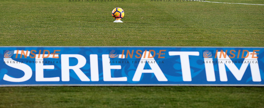 Pallone Striscione TIM, Ball banner TIM<br /> Crotone 08-02-2017  Stadio Ezio Scida<br /> Football Campionato Serie A 2016/2017 <br /> Crotone - Juventus<br /> Foto Cesare Purini / Insidefoto