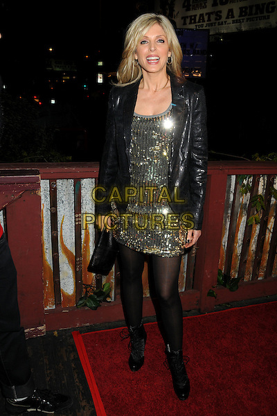 MARLA MAPLES .House of Blues Haiti Fundraiser Benefit for Project We.The.Children. held at The House Of Blues, West Hollywood, California, USA, 28th January 2010..full length jacket dress tights  black gold sequined sequins ankle boots .CAP/ADM/BP.©Byron Purvis/AdMedia/Capital Pictures.