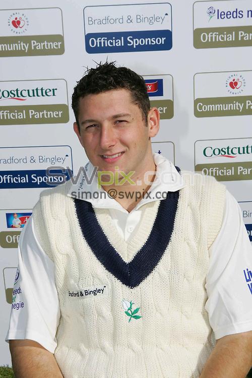 Pix: Simon Wilkinson/SWpix.com. Cricket, Yorkshire County Cricket Club Team photo call Season 2006...Copyright Picture..Simon Wilkinson..07811267706..Yorkshire County Cricket Club's Tim Bresnan.