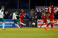 Regis's Jimmy Muitt scores the equaliser during Bognor Regis Town vs Leyton Orient, Buildbase FA Trophy Football at Nyewood Lane on 13th January 2018