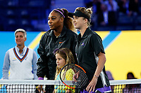 Serena Williams of the United States and Elina Svitolina of Ukraine before their match at Arthur Ashe Stadium at the USTA Billie Jean King National Tennis Center on September 05, 2019 in New York City.<br /> CAP/EL<br /> ©Elena Leoni/Capital Pictures