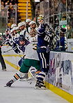 9 February 2019: University of New Hampshire Wildcat Defenseman Will MacKinnon, a Freshman from Plymouth, MI, in first period action against the University of Vermont Catamounts at Gutterson Fieldhouse in Burlington, Vermont. The Wildcats fell to the Catamounts 4-1 splitting their 2-game Hockey East weekend series. Mandatory Credit: Ed Wolfstein Photo *** RAW (NEF) Image File Available ***