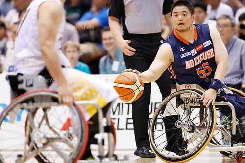 Hiroaki Kozai (NO EXCUSE), <br /> MAY 5, 2017 - Wheelchair Basketball : <br /> Japan Wheelchair Basketball Championship<br /> final match between Miyagi MAX - NO EXCUSE <br /> at Tokyo Metropolitan Gymnasium in Tokyo, Japan. <br /> (Photo by Yohei Osada/AFLO SPORT)
