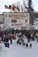 Benedikt Beisch Willow restart Iditarod 2008.