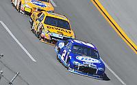 Apr 26, 2009; Talladega, AL, USA; NASCAR Sprint Cup Series driver Kurt Busch (2) leads Matt Kenseth during the Aarons 499 at Talladega Superspeedway. Mandatory Credit: Mark J. Rebilas-