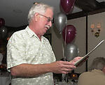 John Cornell, seen at his retirement party  on October 10, 2000. Photo by Jim Peppler. Copyright/Jim Peppler-2000
