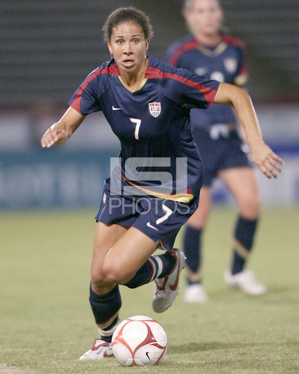 Shannon Boxx (7) of USA during an international friendly match against South Korea at City Stadium on November 1, 2008 in Richmond, Virginia. USA won 3-1. Photo by Tony Quinn / isiphotos.com
