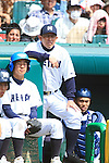 Hidehiko Harada (Ryukoku-Dai Heian),<br /> APRIL 2, 2014 - Baseball :<br /> Ryukoku-Dai Heian's manager Hidehiko Harada during the 86th National High School Baseball Invitational Tournament final game between Ryukoku-Dai Heian 6-2 Riseisha at Koshien Stadium in Hyogo, Japan. (Photo by Katsuro Okazawa/AFLO)
