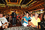 Frank Dicopoulos - MC and fans -  Meet & Greet - Day 2 - August 1, 2010 - So Long Springfield at Sea aboard Carnival's Glory (Photos by Sue Coflin/Max Photos)