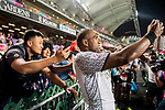 HSBC Hong Kong Rugby Sevens 2018 on 08 April 2017, in Hong Kong, Hong Kong. Photo by Marcio Rodrigo Machado / Power Sport Images