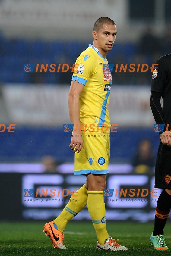 Gokhan Inler Napoli.<br /> Roma 05-02-2014 Stadio Olimpico. Football Calcio 2013/2014 Tim Cup. AS Roma - Napoli. Foto Antonietta Baldassarre / Insidefoto