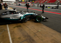 VALTTERI BOTTAS (FIN) of Mercedes-AMG Petronas Motorsport during Day 2 of the 2018 Formula 1 Testing at the Circuit de Catalunya, Barcelona. on 27 February 2018. Photo by Vince  Mignott.