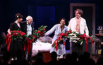 """Arin Arbus, Terrence McNally, Audra McDonald and Michael Shannon during the Opening Night Curtain Call for """"Frankie and Johnny in the Clair de Lune"""" at the Broadhurst Theatre on May 29, 2019  in New York City."""