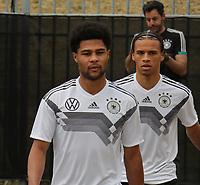 Serge Gnabry (Deutschland Germany), Leroy Sane (Deutschland Germany) - 04.06.2019: Training der Deutschen Nationalmannschaft zur EM-Qualifikation in Venlo/NL