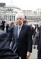 NAPOLI IL GOVERNO PRESENTA IL PROGETTO POMPEI .NELLA FOTO IL PRESIDENTE DEL CONSIGLIO MARIO MONTI.FOTO CIRO DE LUCA