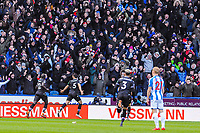 Crystal Palace's defender James Tomkins (5) scores goal number  2 of the season during the EPL - Premier League match between Huddersfield Town and Crystal Palace at the John Smith's Stadium, Huddersfield, England on 17 March 2018. Photo by Stephen Buckley / PRiME Media Images.