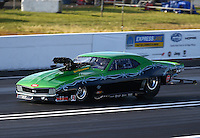 Jun 10, 2016; Englishtown, NJ, USA; NHRA pro mod driver Eric Latino during qualifying for the Summernationals at Old Bridge Township Raceway Park. Mandatory Credit: Mark J. Rebilas-USA TODAY Sports